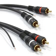 1.5m Cable de Audio Phono RCA doble blindado y etiquetas de alambre de cobre libre de oxígeno [008316]