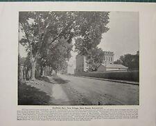 1898 Imprimé + Text ~ Sheffield Hall Yale Université Neuf Haven ~ Connecticut