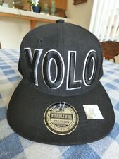 YOLO Headlines Embroidered Snapback Hat Cap Brand New Without Tags Offers OK