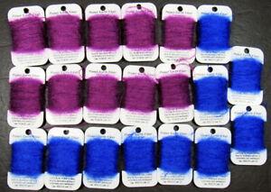 20xNeedlepoint/Embroidery THREAD PLANET EARTH Furr-Fuzz-Funn mohair/silk-IT3