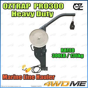 OZTRAP PRO300 Series Line Hauler Pot Net Puller 136kg Rated Winch Boat Fishing