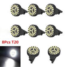 8X T20 7443 W21/5W 4014 19SMD Canbus No Error LED Car Turn Signal Reversing Bulb