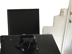 """Dell, LCD Computer Monitor (1707FPt), Black/Silver, 17"""" w/ Stand Tested"""
