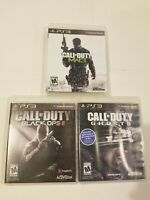 Call Of Duty Lot Bundle PS3 Games Ghosts Black Ops 2 MW3 CoD Modern Warfare 3
