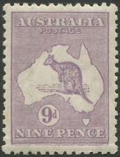 Kangaroos - 3rd Wmk: 9d Pale Violet (Die 2B) centred, fresh MUH with variety