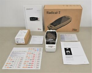 New Masimo Rainbow Radical 7 Color Touch Screen Pulse Oximeter w/ Patient Cable