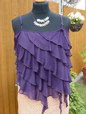 Ladies Waterfall Style Top in a Purple / Blue size 14/16 Spaghetti straps perkin
