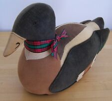 Large Weighted Fabric Duck by Ducks & Company USA