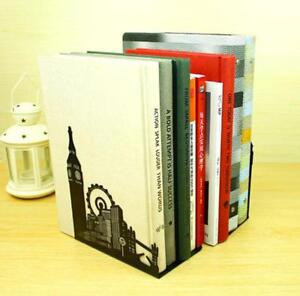 1Pair Europe New Style Metal Bookends Creative Book Stand  Home Offce Decor