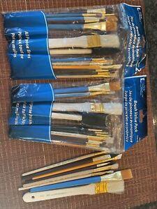 Lot Of 2. Vintage  Loew Cornell  Paint Brush Sets  50 Plus Brushes