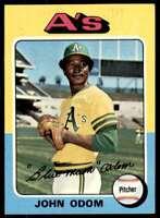 1975 Topps John Odom Oakland Athletics #69