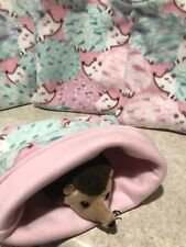 Pink Hedgehog - snuggle sack- animal Bonding Bag -Hedgehog -guinea Pig