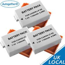 3x LP-E8 Battery for Canon EOS 550D 600D 700D 650D X4 X5 T3i T5i lpe8 UK Local