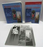 Abeka Literature England 2nd Ed Set Student Teacher & Test Key High School Level