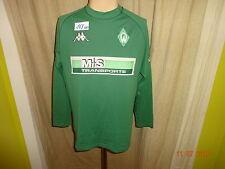 "Werder Bremen Kappa Langarm Matchworn Trikot 01/02 ""M+S Transporte""+ Nr.13 Gr.M"