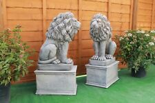 Two Stone STUNNING Lion Garden Ornament Statues