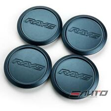 4x Rays Volk Racing Center Cap ZE40 TE37 Ultra Saga Sonic RE30 M. Blue Gunmetal