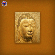 BUDDHA OIL PAINTING RELIGIOUS ART ON CANVAS GOLD COLOR HAND PAINTED