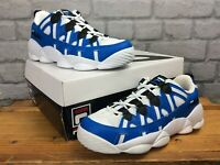 FILA UK 4 EUR 37.5 SPAGHETTI LOW BLUE WHITE CHUNKY TRAINERS LADIES CHILDRENS E
