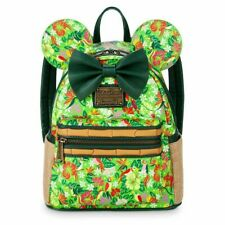 LOUNGEFLY DISNEY MMMA MINNIE MOUSE MAIN ATTRACTION ENCHANTED TIKI ROOM BACKPACK