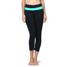 Light Blue & Black Yoga pants/Fitness Crop Legging Size 6- Top Quality From NYC