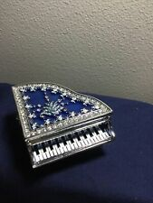 New ListingKeren Kopal, Stunning Blue Piano Plays Music Trinket Box! Collector Piece, Gift!