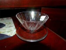 Vintage French Art Glass Daum France Crystal CONDIMENT DISH SIGNED