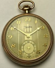 ZentRa 154 European Pocket Watch, Swiss, 42mm, 7 Jewels, with Unusual Hands