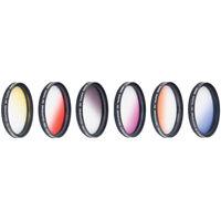 Vivitar 72mm Graduated Color Multicoated 6pcs Filter Set
