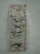 Vintage Hair Accessories - Clear Large Round Ponytail Holders