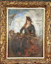 FEMME BANDOULIÈRE. HUILE SUR TOILE. ANONIMO. CENTURY XIX-XX