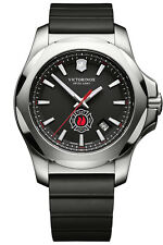 Victorinox Swiss INOX Special Edition FDNY Black Rubber Strap Watch 249104 NIB