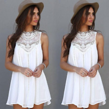 Ladies lace sleeveless dress fashion hollow skirt