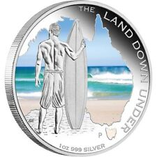 2013 The Land Down Under - Lifestyle Surfing 1oz Silver Proof Coin