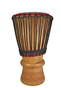 Grosse Mächtige Afrika Bougarabou Bass Drum Trommel Djembe Kuhhaut nr.11