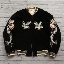 Vintage 40s Japan Souvenir Reversible Tour Jacket Tiger Bird Dragon