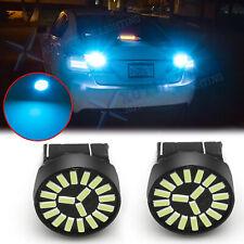 For Honda Accord Civic Odyssey Ice Blue 7443 LED Reverse Backup Light Bulb 2Pcs