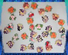 "Mini Crochet Flowers 1"" Applique Craft Decoration lot of 100 Mixed Colors"
