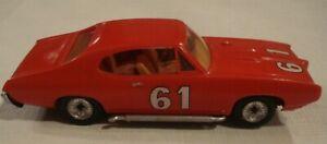 "Vintage Plastic MMI Pontiac GTO Model  6 1/4"" Long Built Camel GT #61"