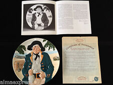 1986 Long John Silver 6th Issue Handpainted Davenport Pottery Collector Plate