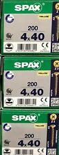 SPAX Madera Tornillo F / Csk 4 Corte Pozi 200 por Caja Trade Tallas Barato 4 X
