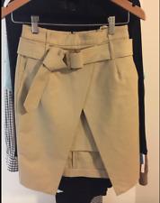 $160 witchery skirt camel tie buckle belt mini wrap asymmetric XS 6 S 8 small