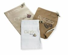 Eddingtons 3 Vegetable Storage Bags Potato Onion Garlic Reusable Stay Fresh New