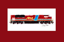 "Arkansas & Missouri SD70ACe #71 11""x17"" Matted Print by Andy Fletcher signed"