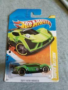 2011 Hot Wheels SUPER BLITZEN Green 17/244 LITTLE BEND New Models