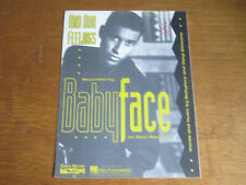 BABYFACE - AND OUR FEELINGS - ORIGINAL SHEET MUSIC (H)