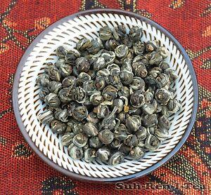 Chinese Jasmine Dragon GREEN TEA PEARLS  Organic Loose Leaf Festival Drink Balls