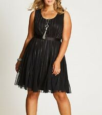 STUNNING BLACK PARTY / COCKTAIL DRESS Size 24 FREE POST (AUTOGRAPH) RRP $130