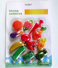 12 Pcs Fridge Magnet Plastic Vegetable Novelty Colorful Kitchen Decoration Gift