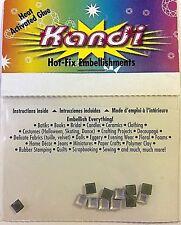 Kandi Hot-Fix Embellishments - 4mm Swarovski Crystal Squares  12   pc - New